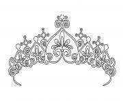 couronne princesse fille dessin à colorier