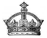 couronne dessin à colorier