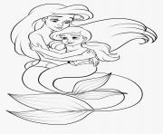 melodie la fille de la princesse ariel et du prince eric dessin à colorier