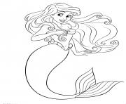 princesse ariel fille du Roi Triton dessin à colorier