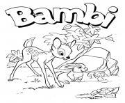 Coloriage bambi et panpan dessin