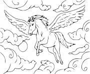 cheval volant licorne dessin à colorier