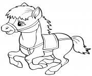 cheval facile maternelle dessin à colorier