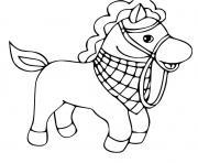 cheval simple maternelle dessin à colorier