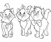 les chats aristochats disney dessin à colorier
