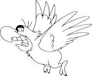 perroquet fache pas content dessin à colorier