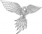 perroquet mandala par bimdeedee dessin à colorier