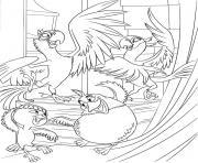 perroquets les oiseaux de rio dessin à colorier