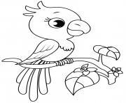 perroquet facile maternelle dessin à colorier