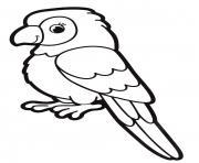 perruche perroquet maternelle dessin à colorier