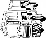 camion de pompier pour les secours dessin à colorier