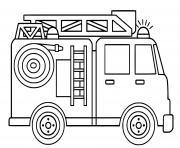 fourgon dincendie facile dessin à colorier
