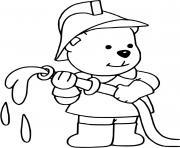 chien pompier dessin à colorier