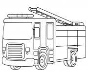 fire truck pour enfants dessin à colorier