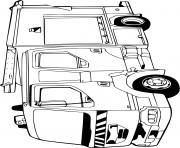 fourgon incendie camion pompier dessin à colorier