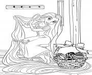 princesse raiponce oeufs de paques disney dessin à colorier