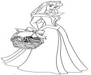 cendrillon princesse oeufs paques disney dessin à colorier