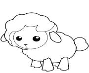 mouton agneau petit facile dessin à colorier