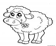 mouton enfant facile dessin à colorier
