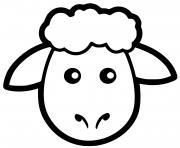 tete de mouton maternelle dessin à colorier