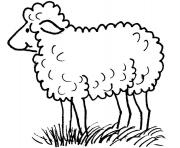 mouton dans la nature maternelle dessin à colorier