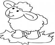 mouton pour enfants dessin à colorier