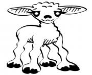 agnelle la petite mouton dessin à colorier