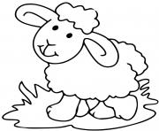 mouton avec de l herbe dessin à colorier