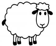 mouton facile maternelle dessin à colorier