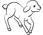 agneau le petit mouton dessin à colorier