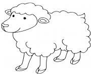 belier mouton maternelle dessin à colorier