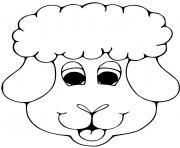 tete de mouton dessin à colorier