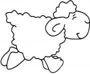 mouton qui marche dessin à colorier