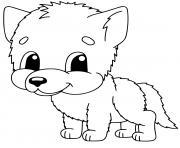 bebe loup maternelle mignon dessin à colorier