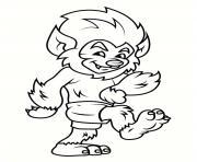 loup garou poilu dessin anime dessin à colorier