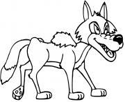 loup sans pelage dessin à colorier