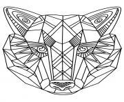 loup 3d motif pour adulte dessin à colorier