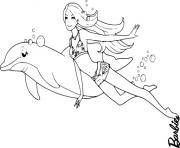 dauphin barbie princesse dessin à colorier