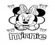 minnie mouse amoureuse de mickey dessin à colorier