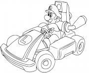 coloriage luigi piste de course mario kart live