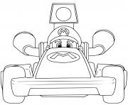 coloriage super mario bros kart voiture rapide