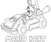 coloriage mario kart speed