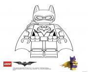Batgirl Lego Batman Film dessin à colorier