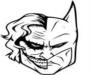 batman vs joker dessin à colorier