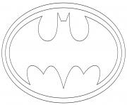 logo batman dessin à colorier