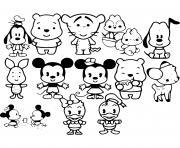 bebe disney personnages dessin à colorier