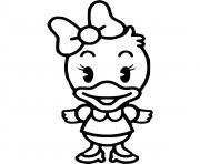 daisy duck bebe disney dessin à colorier