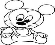 mickey mouse bebe dessin à colorier