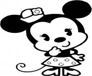 Coloriage minnie mouse bebe est timide