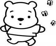 winnie ourson enfant bebe dessin à colorier